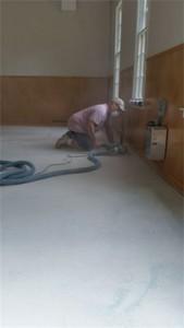 grinding edges of garage floors as part of prep work for epoxy coatings